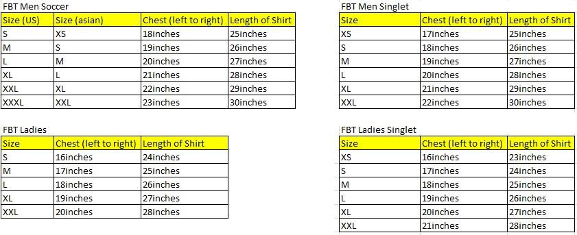 fbt size chart