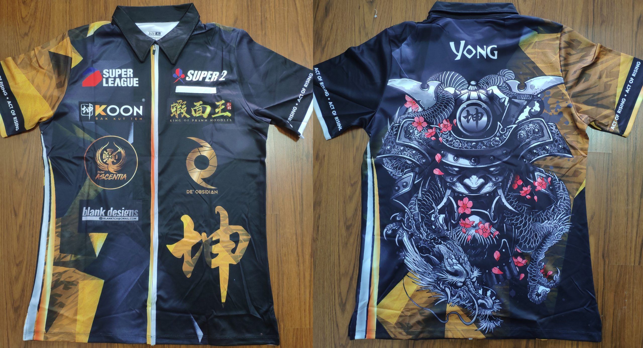 Darts Jersey Sublimation Print