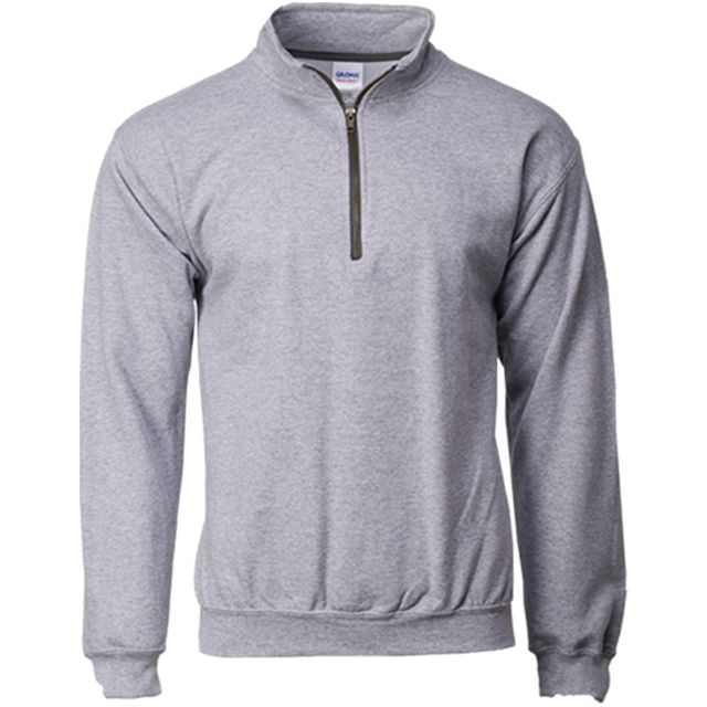 sport grey zipper crew